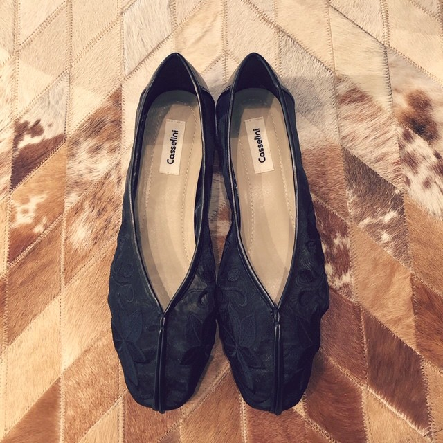 Casselini-刺繍 tulle shoes