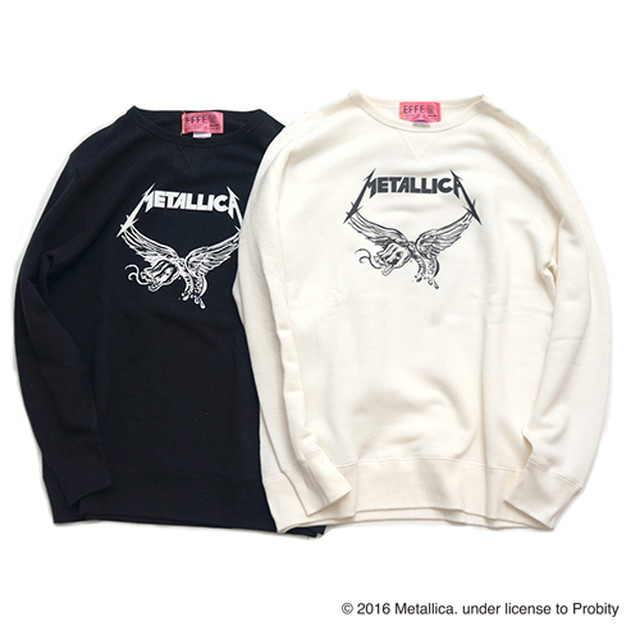 EFFECTEN(エフェクテン) METALLICA PUSHEAD SWEAT (white,black)