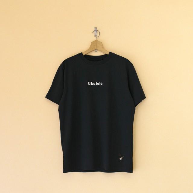 快晴堂 カイセイドウ 海上がりUNI Tシャツ Ukulele・真っ黒【メンズ】