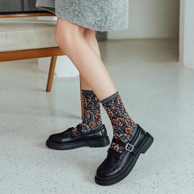 ソックス2セット購入で1つプレゼント☆オールドスタイルファッションソックス 80'sスタイル靴下 レトロ ヴィンテージ