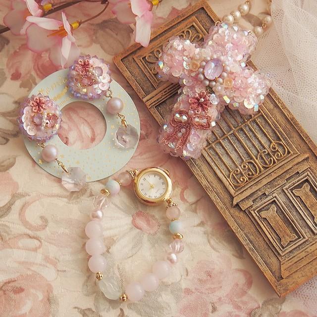 【受注製作】3月のおまもりセット「桜の国」