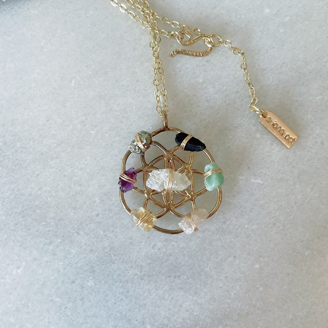 Ariana Ost Crystal Grid Necklace ネックレス