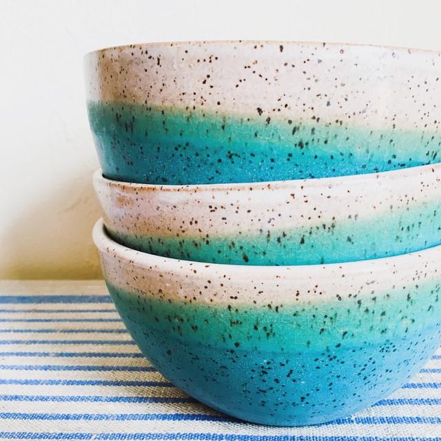 BKB ceramics— turquoise cereal bowl