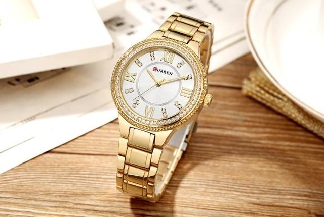 CURREN LT-C9004(gold-white) レディース腕時計