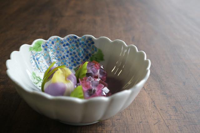 紫陽花 菊鉢
