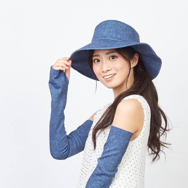 小顔ばえ「ぷるピッタ帽子」UVカット #111