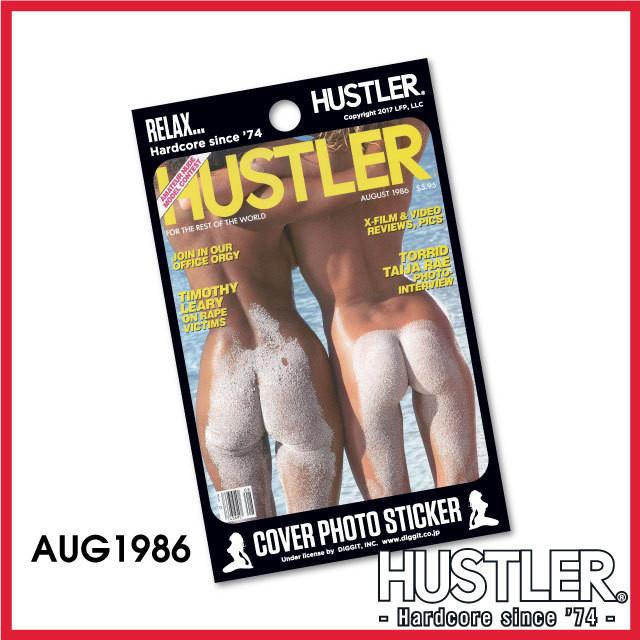 セクシー系金髪お姉ちゃんステッカー・HUSTLER COVER PHOTO STICKER (ハスラーカバーフォトステッカー) / 1986 AUG