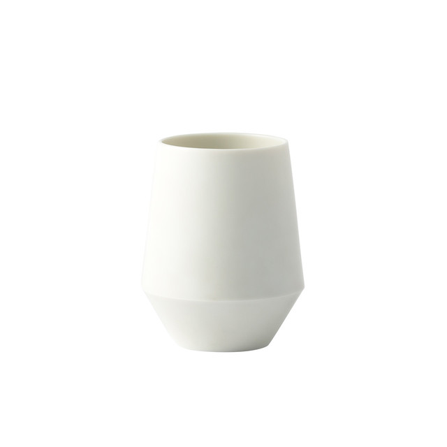 Frustum 湯呑(白釉)