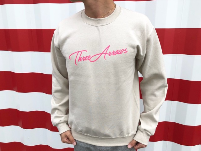 ThreeArrows スウェット(beige × pink)
