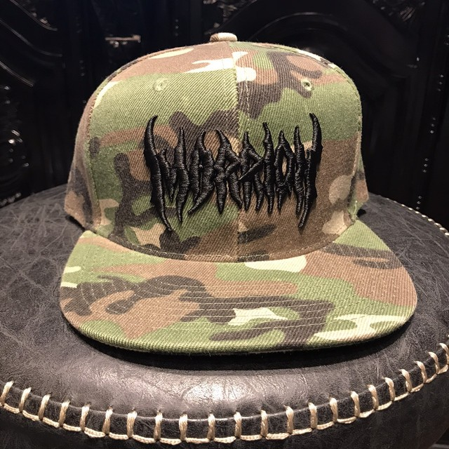 MARRIONAPPAREL LOGO CAP(camo×black)