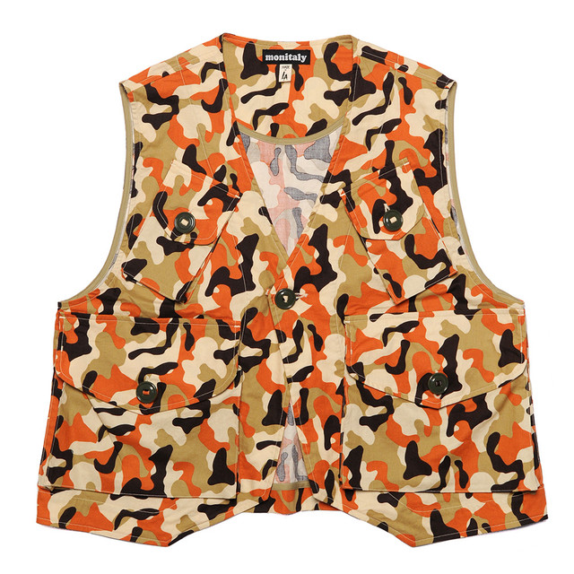 Monitaly / Vest Type C - Cotton Print Camo