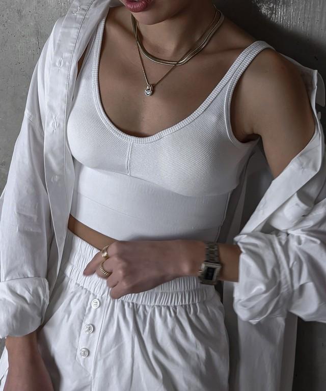Bi color corset bustier