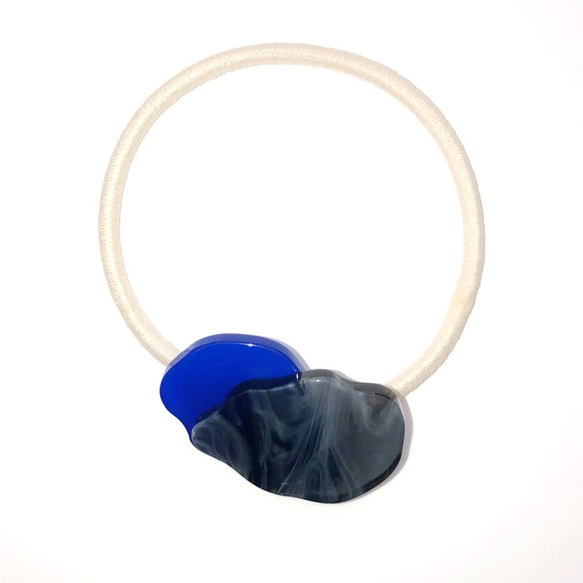 sAn  Pilue hair tie (blue×black)