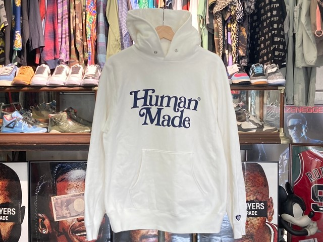 HUMAN MADE × Girls Don't Cry PIZZA HOODIE MEDIUM WHITE 100KD4731