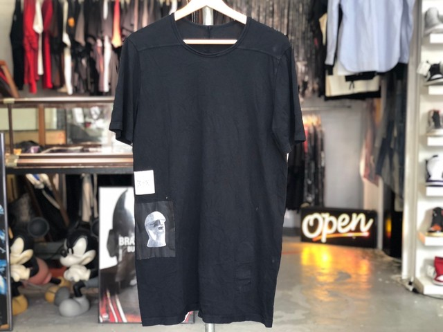 18SS RICK OWENS DRKSHDW PATCH TEE BLACK SMALL 20 7683