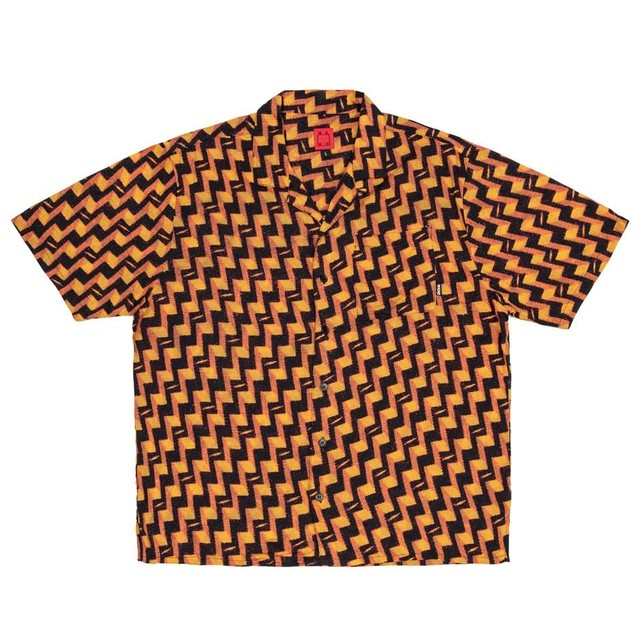 WKND SKATEBOARDS  ROMEO S/S BUTTON UP SHIRT YELLOW