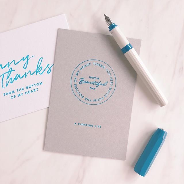 活版印刷のポストカード / サンキューB