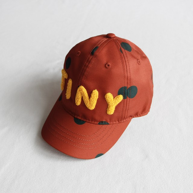 "《TINYCOTTONS 2020AW》""BIG DOTS"" CAP / sienna × dark green"