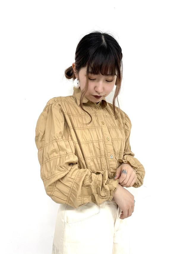 shirring shirt/2SSTP23-20