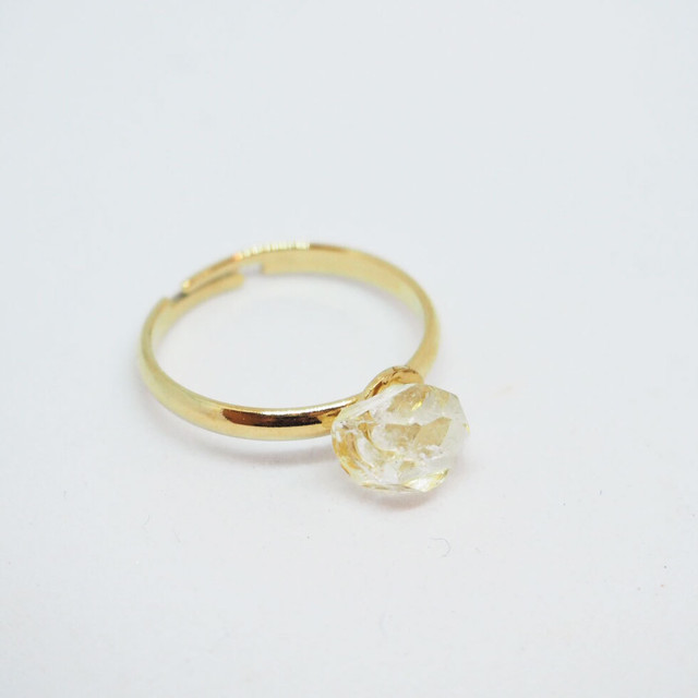 【if】herkimer diamond ピンキーリング