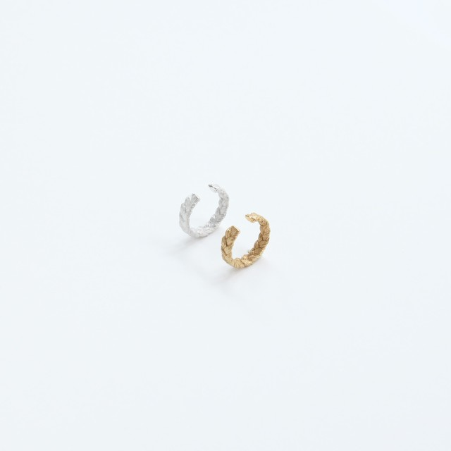 ciito (しいと) mitsuami ear cuff (イヤーカフ) シルバー/ゴールド ※片耳販売