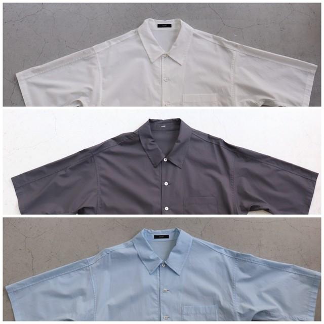 kemit 【ケミット】ドルマン型コットンポプリンシャツ white/black/saxe