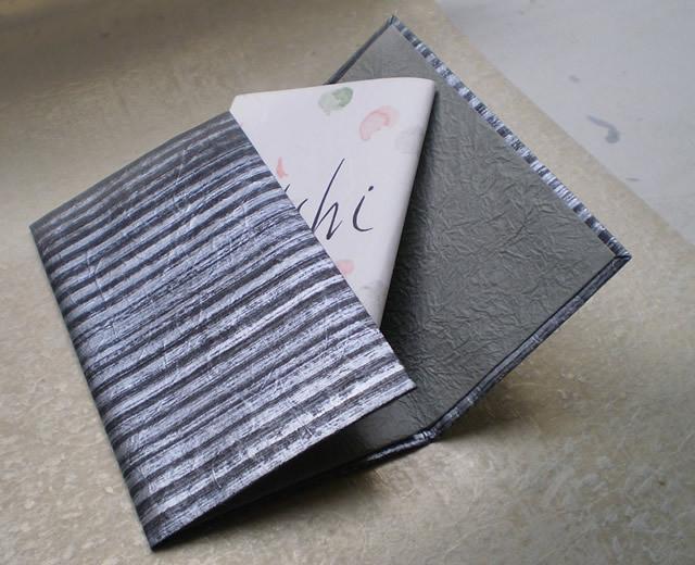 和紙の御懐紙入れ「縞」銀