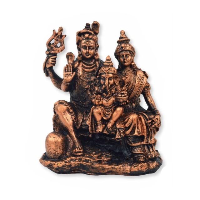 ガネーシャ l18089 シヴァ神 パールヴァティー ヒンドゥー教の神様 象の神様 ガナパティ 歓喜天 聖天 瞑想 癒し オブジェ 置物 アジアン雑貨