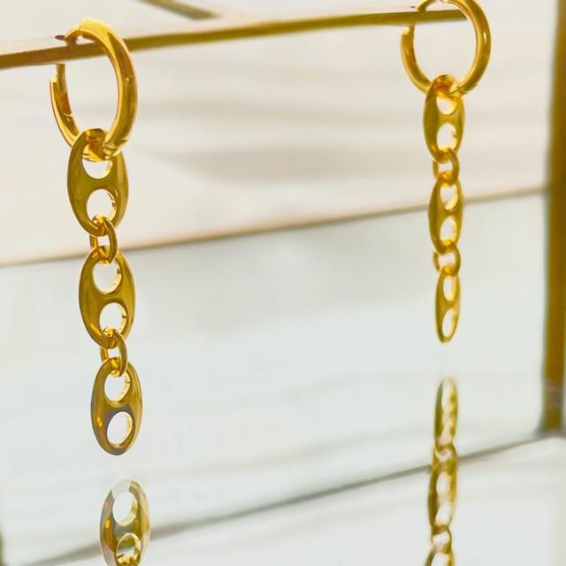 UCE-35G Anker Chain Earrings