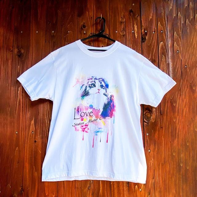 らぶ駅長Tシャツ・アート(ホワイト)