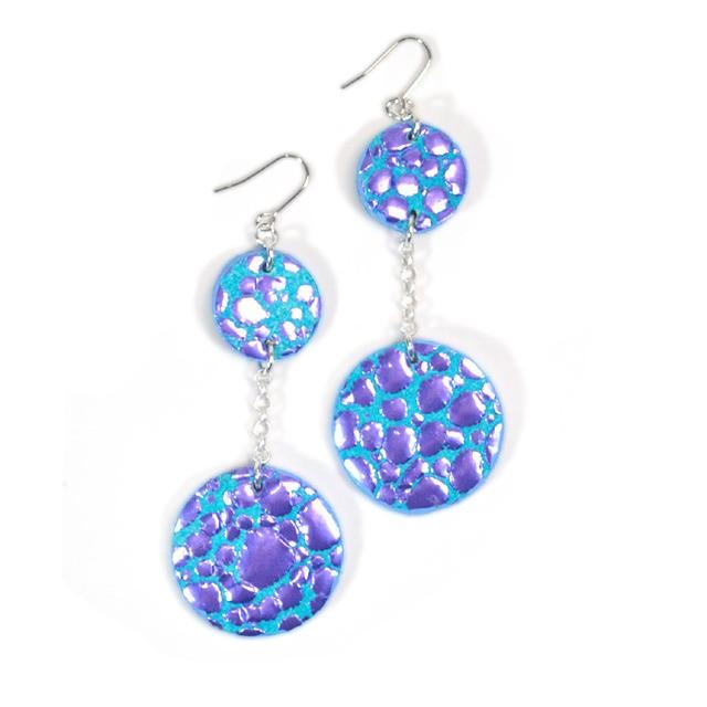 Swing Pierce [Water Drop] Violet × SkyBlue