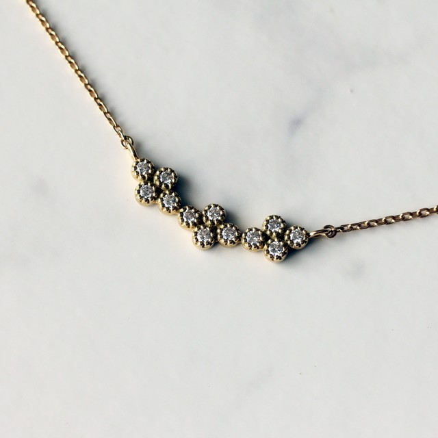 Quattro diamond necklace / K18