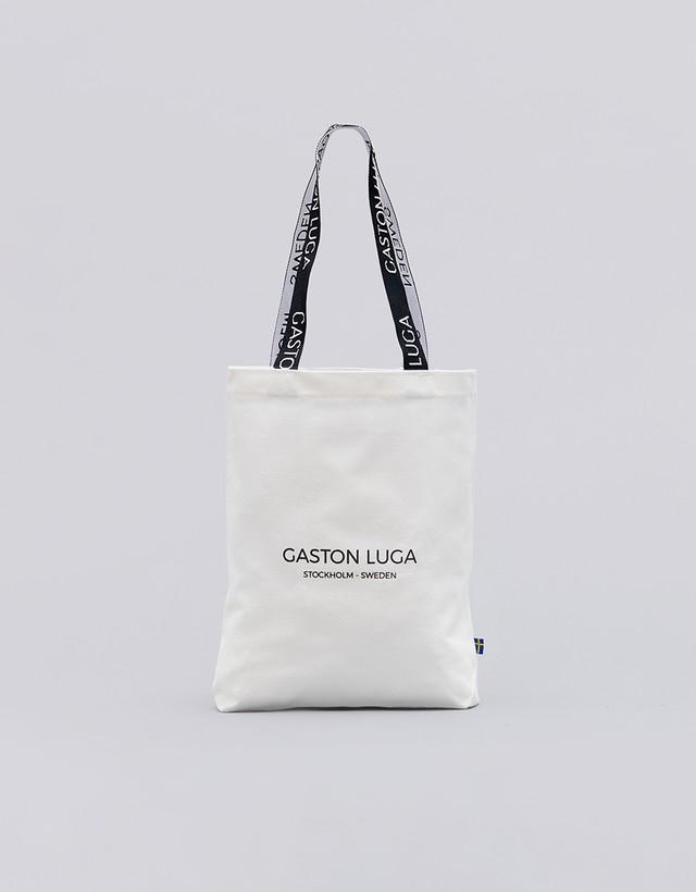 ガストンルーガ(GASTON LUGA) プリントトートバッグ 9995 ストーンホワイト