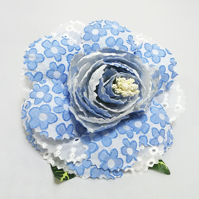 GP-FL-17022 フローレス(花)/ ブルー・白系 Guadalupe社製 既製品