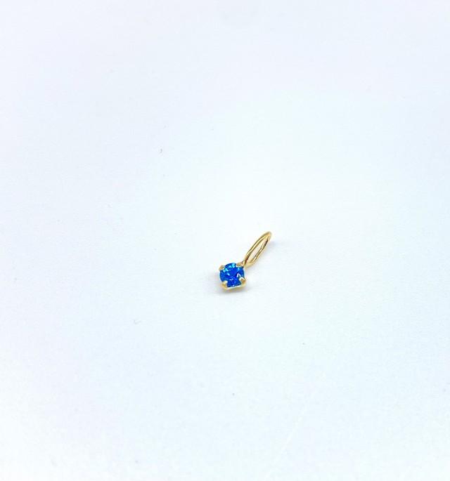K18 ネオンブルーアパタイト2.5mm ペンダントヘッド