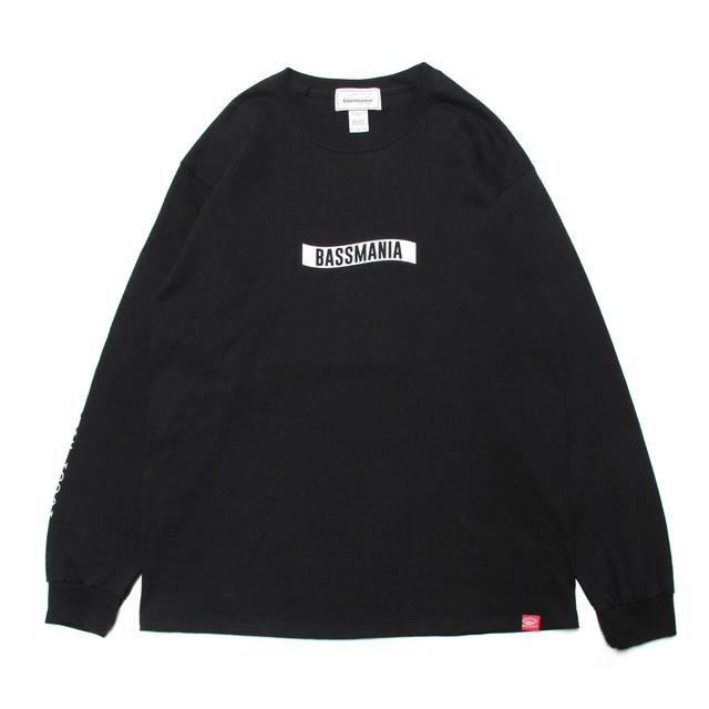 ロゴパターンロングスリーブTシャツ [ブラック]