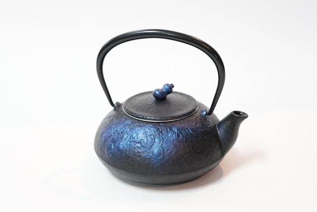 南部鉄器 鉄瓶 ひさご(小) 0.3L 瑠璃色