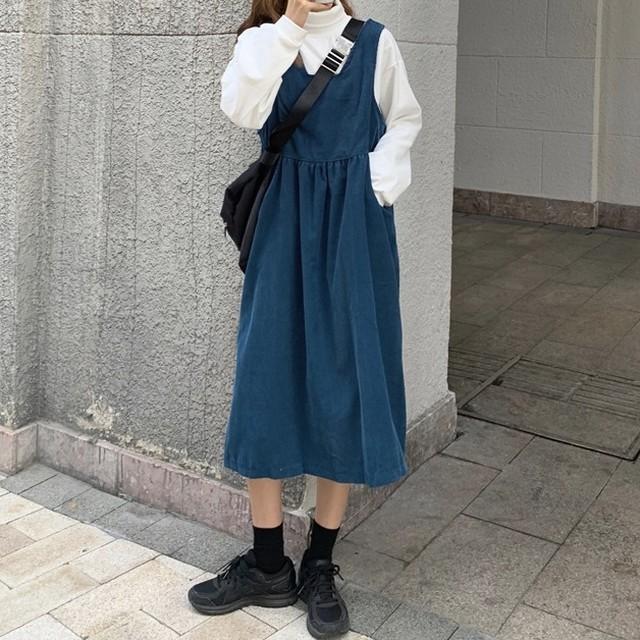 【セット】[单品注文]ファッション長袖プルオーバーハイネックセーター+ワンピース35214398