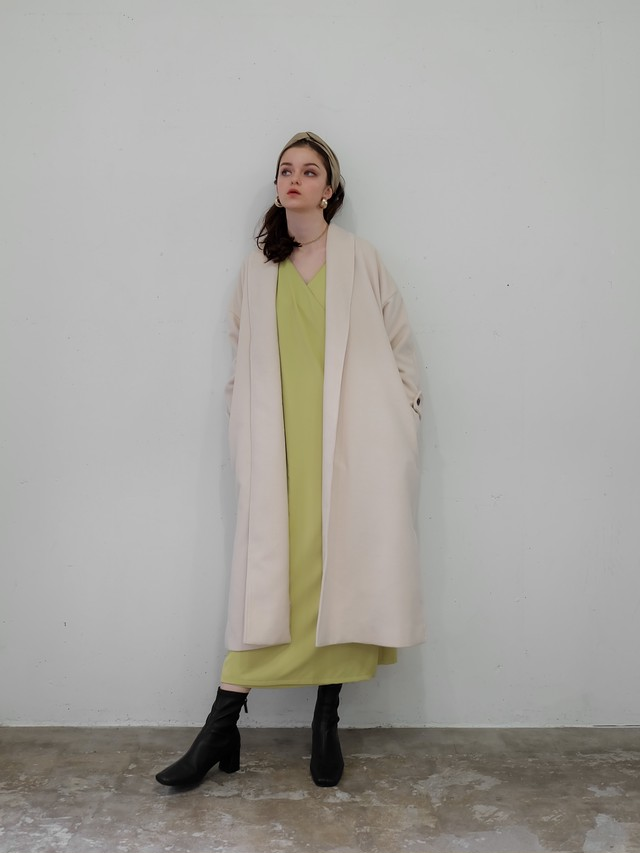 wool gown coat(ivory)