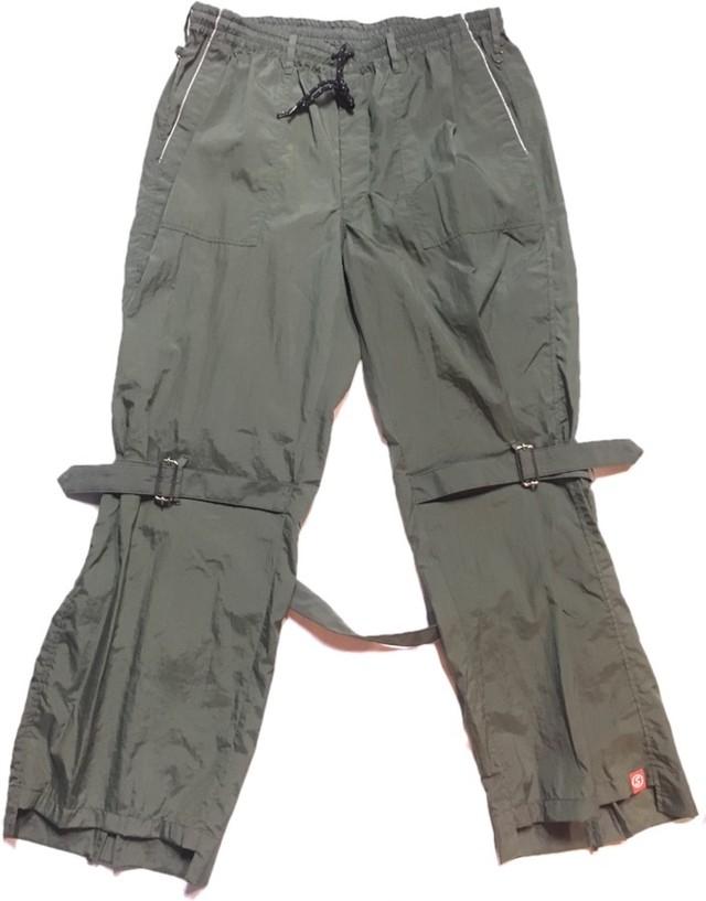 SKIN / nylon bondage pants(olive) - メイン画像