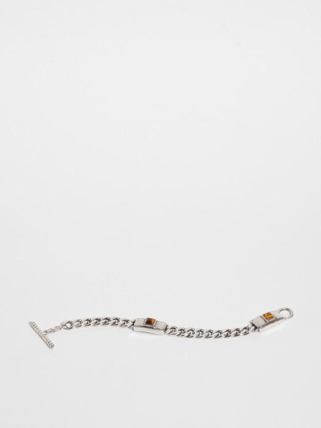 Cuban Link Tiger's Eye Bracelet / Lisa Jenks