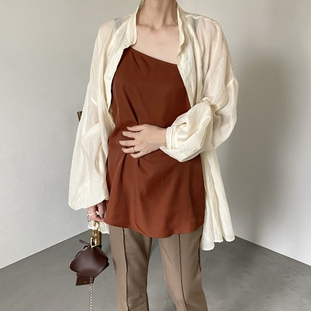 asymmetry camisole/terracotta