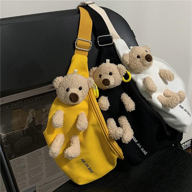ゆるクマデザイン・キュートメッセンジャーバッグ