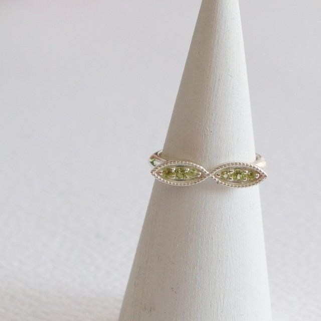 Sprout Ring✧silver925 ペリドット✧