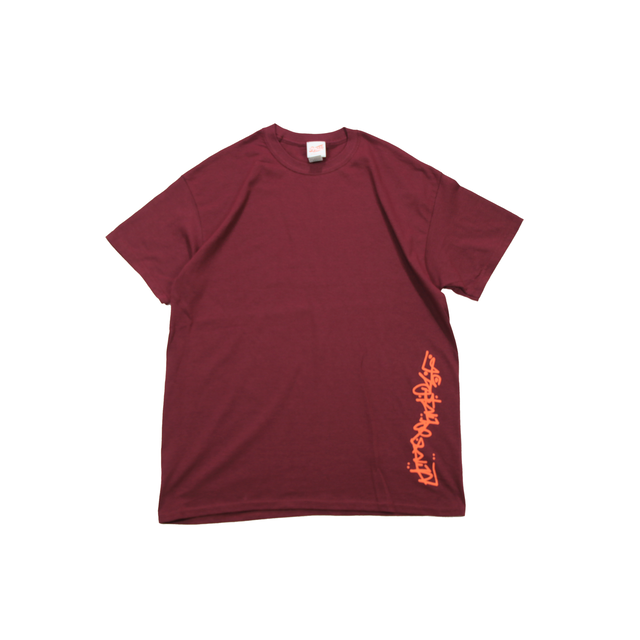 LIVING MADE SLIDER by IRA TEE [BURGUNDY/ORANGE]