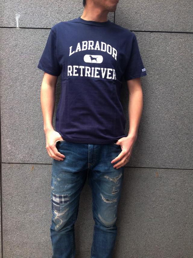 Labrador Retriever(ラブラドールリトリーバー)ATHLETIC LOGO T (アスレチックロゴTシャツ) NAVY(ネイビー)