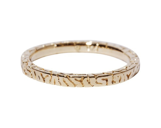 【TABOO】Square Brain-Ring(S)Gold-Coating