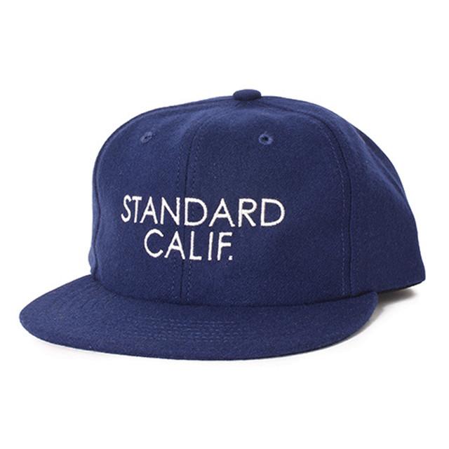 STANDARD CALIFORNIA #SD Logo Wool Cap Navy