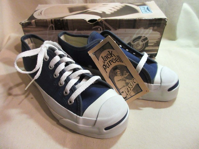 """90's CONVERSE  """"JACK PURCELL"""" LOW  MEN'S 3.5 Dead Stock  MADE IN USA."""