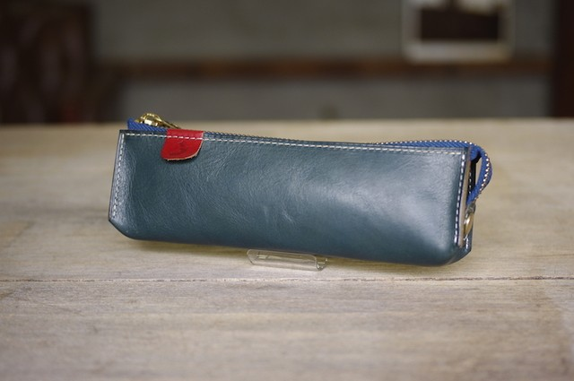 pen case (FOREST BLUE)